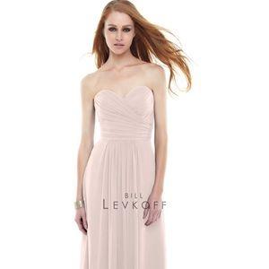 Bill Levkoff bridesmaid dress in petal pink